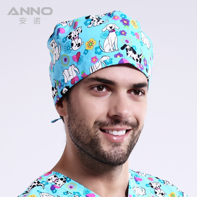 scrub caps surgical hats with adjustable size short hair nursing hats
