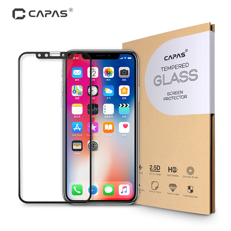 CAPAS Brand for iPhone 10 Tempered Glass Screen Protector