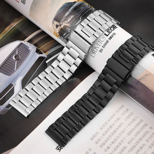 купить 16mm 18mm 20mm 22mm 24mm Stainless Steel Watch band Strap Bracelet Watchband Wristband Folding Black Silver Black Metal Belt по цене 1139.13 рублей