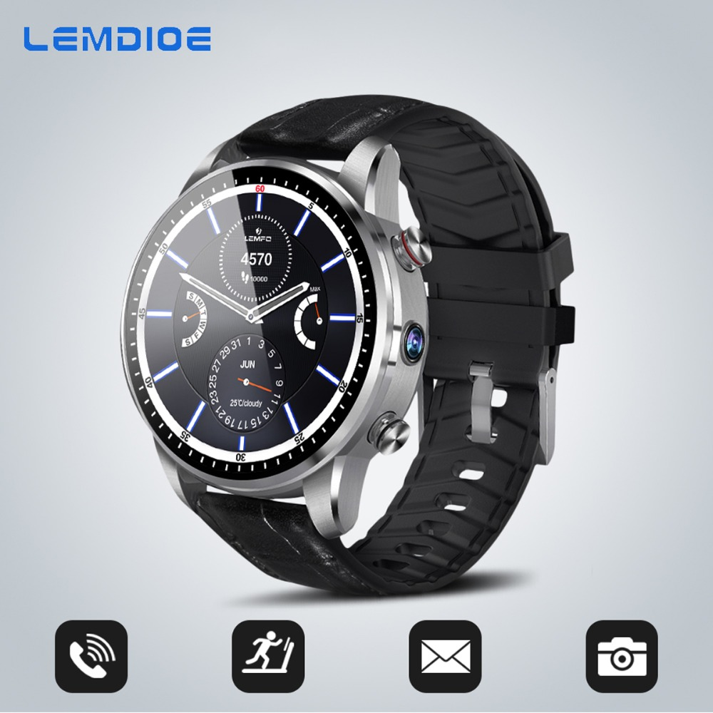 2019 Classic business style 4G smart watch android 7 1 with sim card camera gps bluetooth