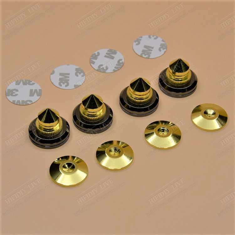4 Sets Or 4 PCS M28*26 Subwoofer Cone Floor Foot Nail  Speakers Stand Feet Foot Pad Pure Copper Gold Loudspeaker Box Spikes