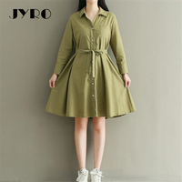 JYRO Brand Mori Women S Dresses New The LittlePure And Collect Render Big Yards Knee Length