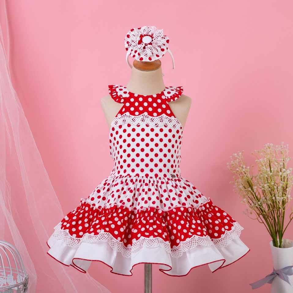Pettigirl Baby Girl Red Dot Party Dress Backless Kid Clothes For Girls With  Baby Headband Kid 28eebceec3f0