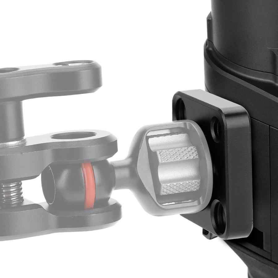 Wielofunkcyjna podwójna głowica kulowa Hot Shoe Magic mocowanie ramienia Adapter 180 stopni obrotowa płyta szybkiego uwalniania akcesoria fotograficzne