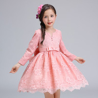 12 Years Autumn Flowers Girls Dress Long Sleeve Princess Party Birthday Dovetail Dresses Girl Costume Kids