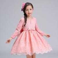 12 Years Autumn Flowers Girls Dress Long Sleeve Princess Party Birthday Dovetail Dresses Girl Costume Kids