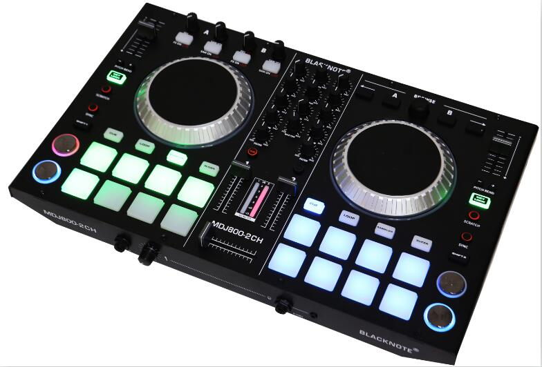 BLACKNOTE DJ MIDI controller to play players playing disc audio mixing console players sound mixer mesa de mezclas dj .DJ mixer morphological adaptations specific to rugby players