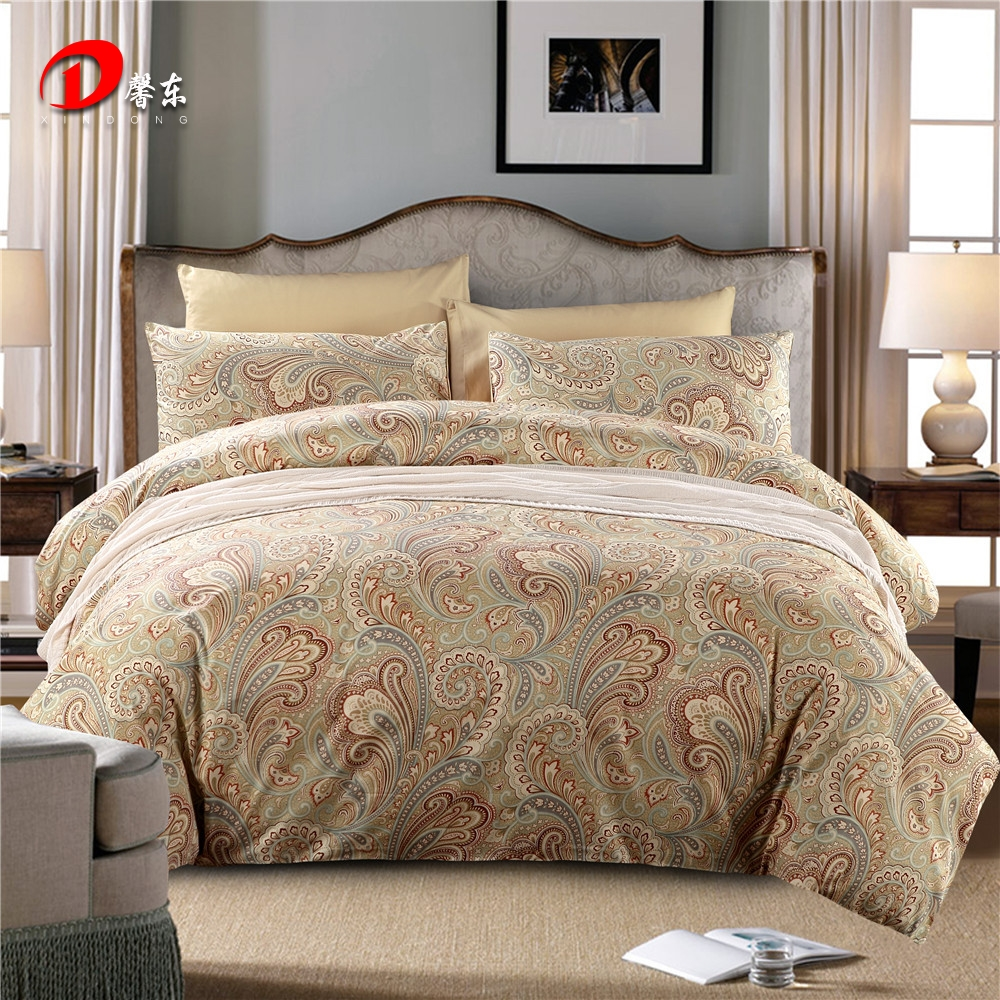 Wave Satin Bed Set Luxury Egyptian Cotton Bedding King Queen Size High Quality Linen Duvet Cover Z63