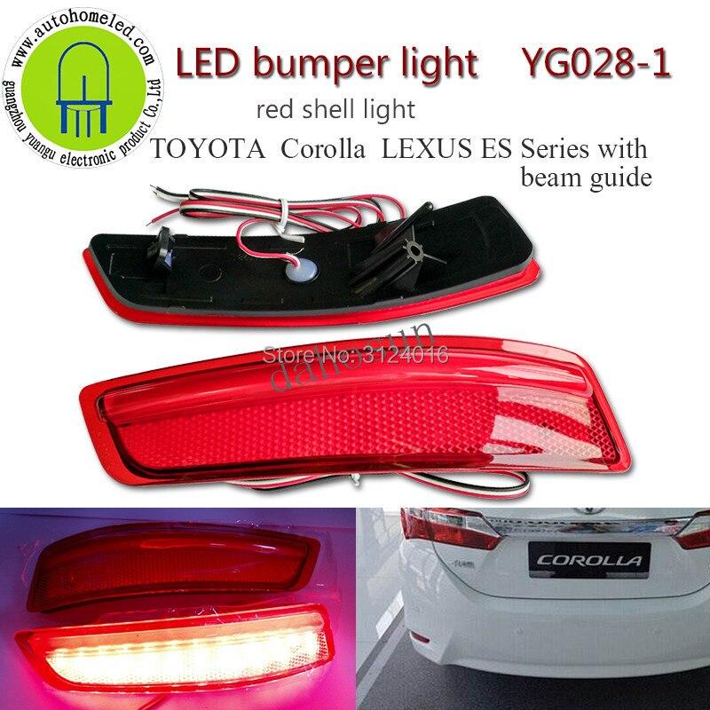 2PC X Car Rear Light For Toyota Corolla 2014 European