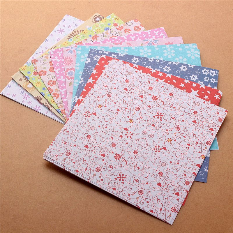 72 sheets 15x15cm colorful origami folding paper flower patterned papers 12 kinds of patterns paper craft - Color Papers