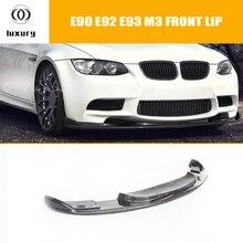 E90 E92 E93 M3 HM Style Carbon Fiber Front Bumper Lip Diffuser for BMW E90 E92 E93 M3 Only 2006 - 2011