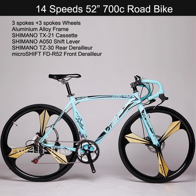 Exceli Bike 14 Speeds 700c Bicicleta 3 Spokes Wheels Road