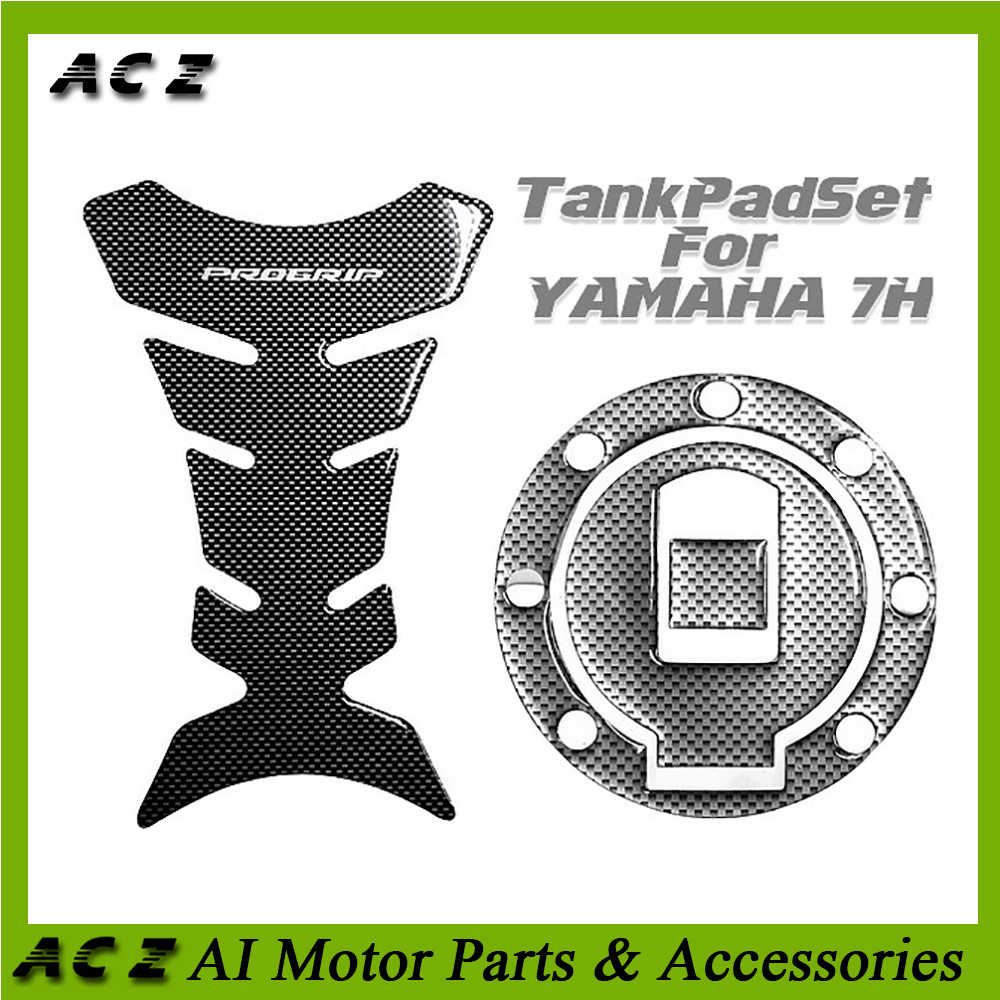 Motorcycle 3D Carbon-look Motorcycle Fuel Gas Oil Cap Tank Pad Tankpad Protector Sticker for Yamaha YZF-R6 R6 1999-2000