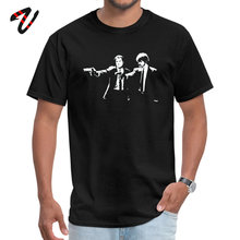 Cool Superman Sleeve Tops Shirts Summer Fall Faddish Yakuza Cotton Fabric Tee Men Tshirts Pulp Fiction Gun