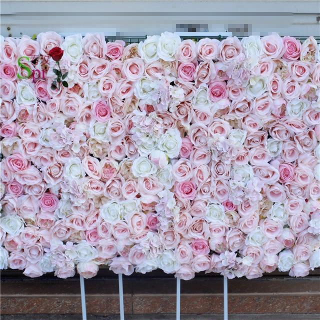 SPR Free Shipping 10pcs/lot Artificial rose peony &hydrangea flower wall wedding backdrop artificial flower arrangements