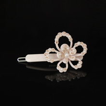 New Arrival Hair Clip Spring Color Acetate Austrian Rhinestone & PearlHair Jewelry  for Women Hair Accessories Pin free shipping