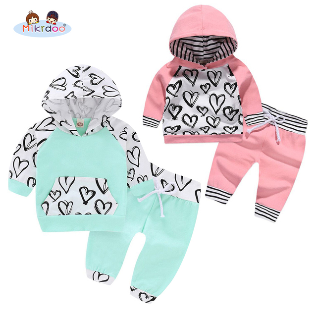Kids Toddler Baby Boys Girls Hooded Clothes Set Grey Plaid Hooded Clothing Top Pant Cotton Autumn Spring Style 2PCS Outfit