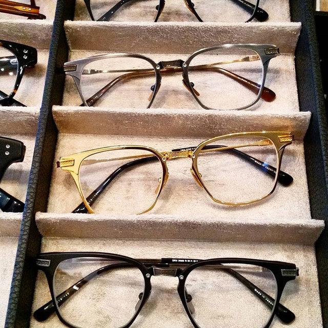 2017 Armações de Óculos de Prescrição Me União Dote DRX-2068 18 K Preto Ouro Para Os Homens Armação Dos Óculos 49mm Caixa Original alta Qualidade