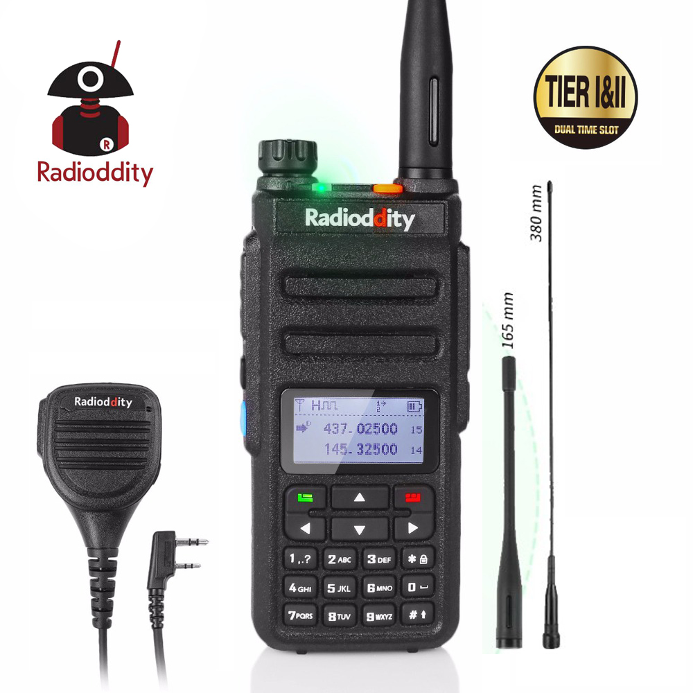 Radioddity GD-77 Dual Band Dual Time Slot DMR Digital/Analog Two Way Radio 136-174 /400-470MHz Ham Walkie Talkie With Speaker