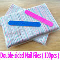 100pcs Mini Nail Files Nail Art Tools Artificial Nail Sandpaper Disposable Cuticle Remover Buffers Slim Crescent Grit Callus