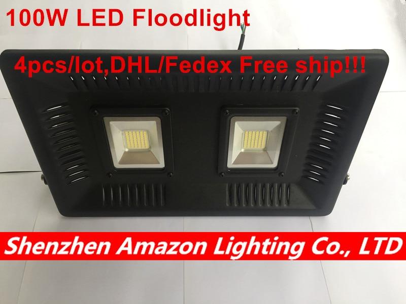 4 pcs/Lot LED lumière d'inondation étanche IP65 100 W 220 V 230 V 240 V Smart IC éclairage LED adapté pour les projecteurs de jardin lampe murale extérieure