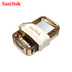 USB 3,0 SanDisk Ultra Dual OTG USB flash drive Max 150 MB/S 32gb pen drive para el teléfono Android/tablet PC amarillo pendrive 32GB