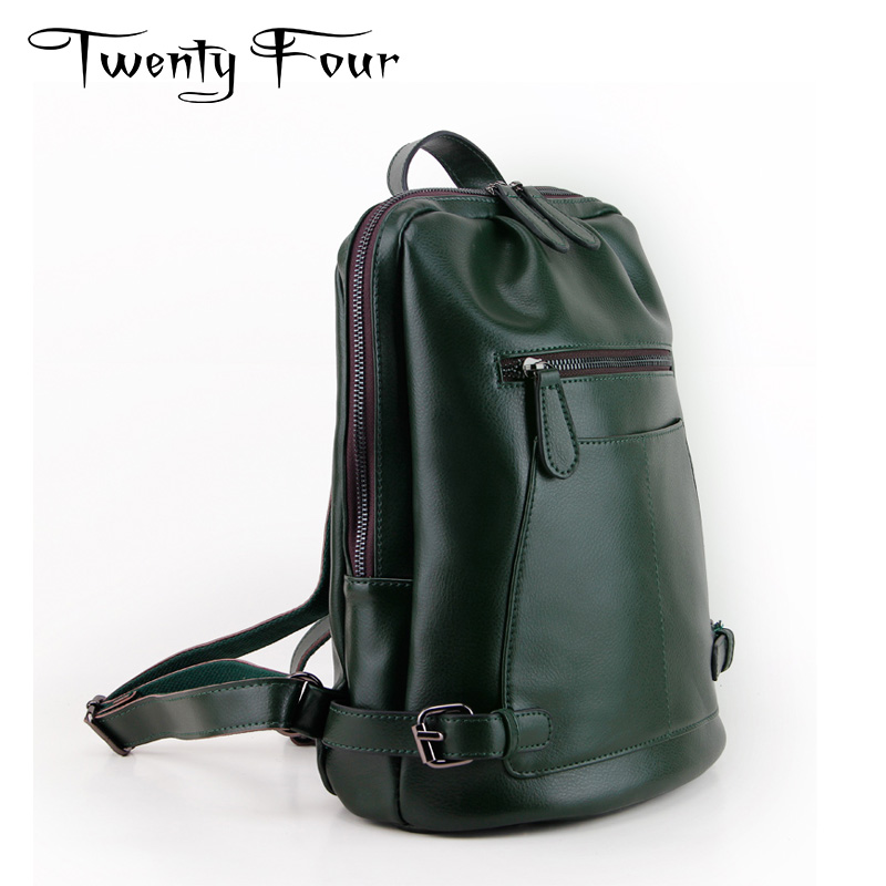 Twenty-four Luxury Women Genuine Leather Backpacks Brand Man Fashion Style Backpack With Real Glossy Leather Travel Bags Mochila twenty four women backpacks genuine leather ladies travel backpack for teenagers girls bucket bag vintage real leather mochilas