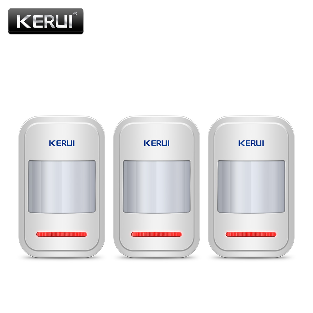 KERUI 433Mhz Rechargeable 5V USB Wireless PIR Motion Sensor Detector for Touch Keypad Panel Home Security Burglar Alarme System-in Sensor & Detector from Security & Protection