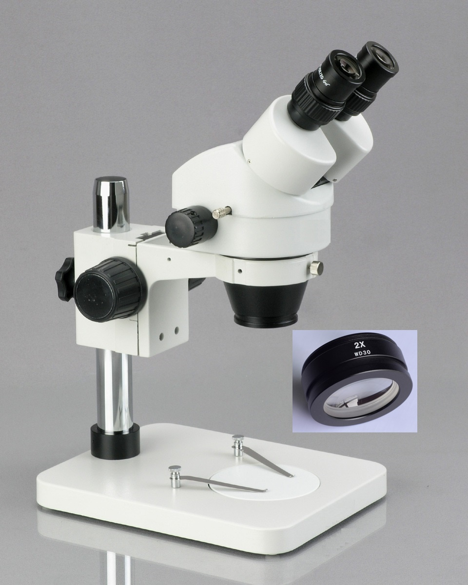 Free Shipping!! 7X-90X Table Pillar Stand Zoom Magnification Binocular Stereo Microscope inspect PCB microscope