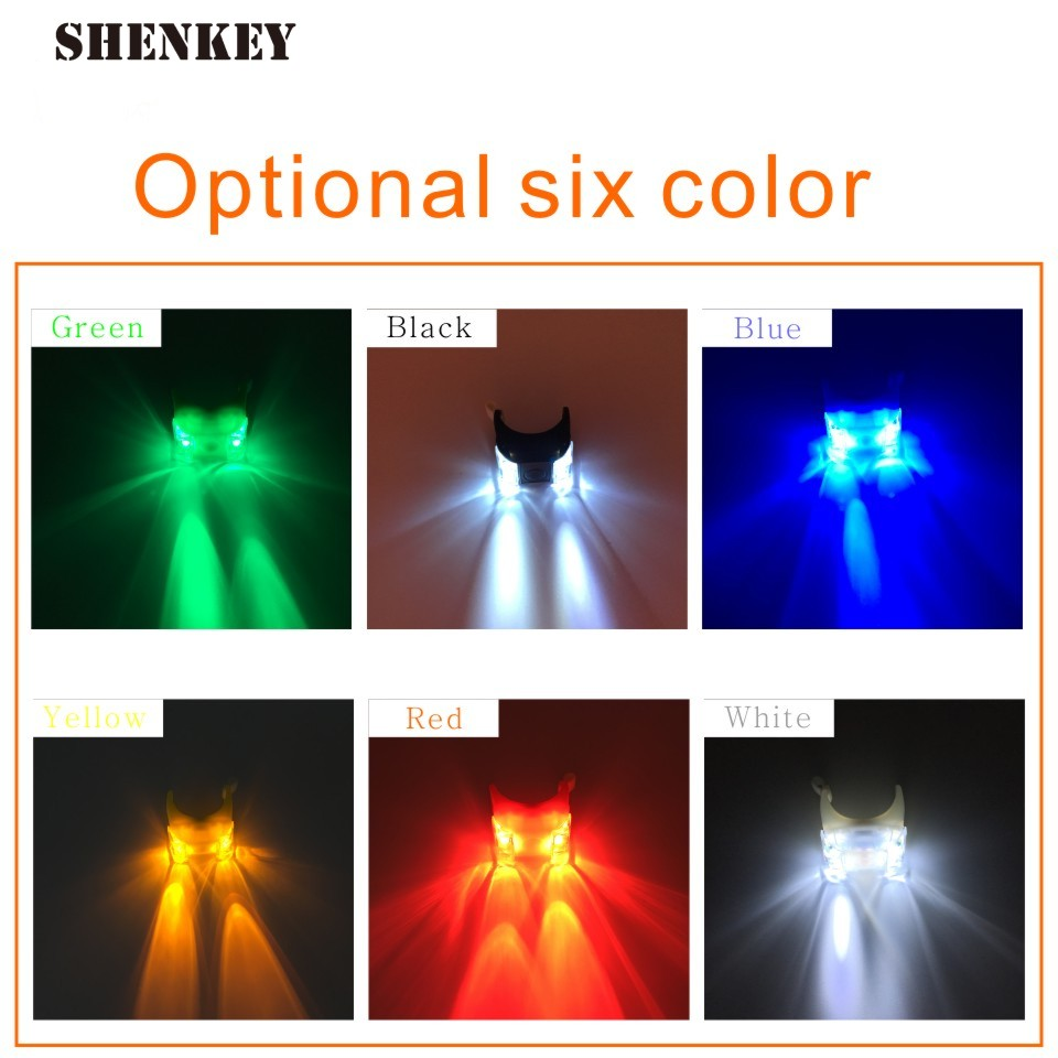 1PC  Bicycle Light Silicone Safety LED Bike Strobe Tail Rear Wheel Spoke Light Cycling Flashlight  Bicycle Front Handlebar Light
