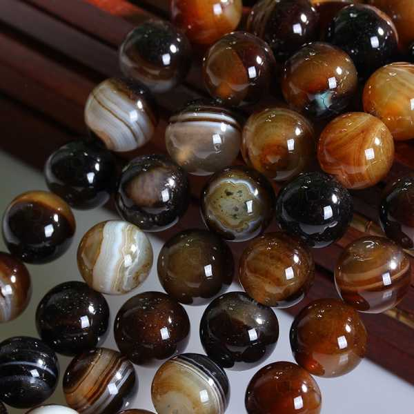 Fashion Diy Round Natural Black Agates beads 10mm Onyx  full strands