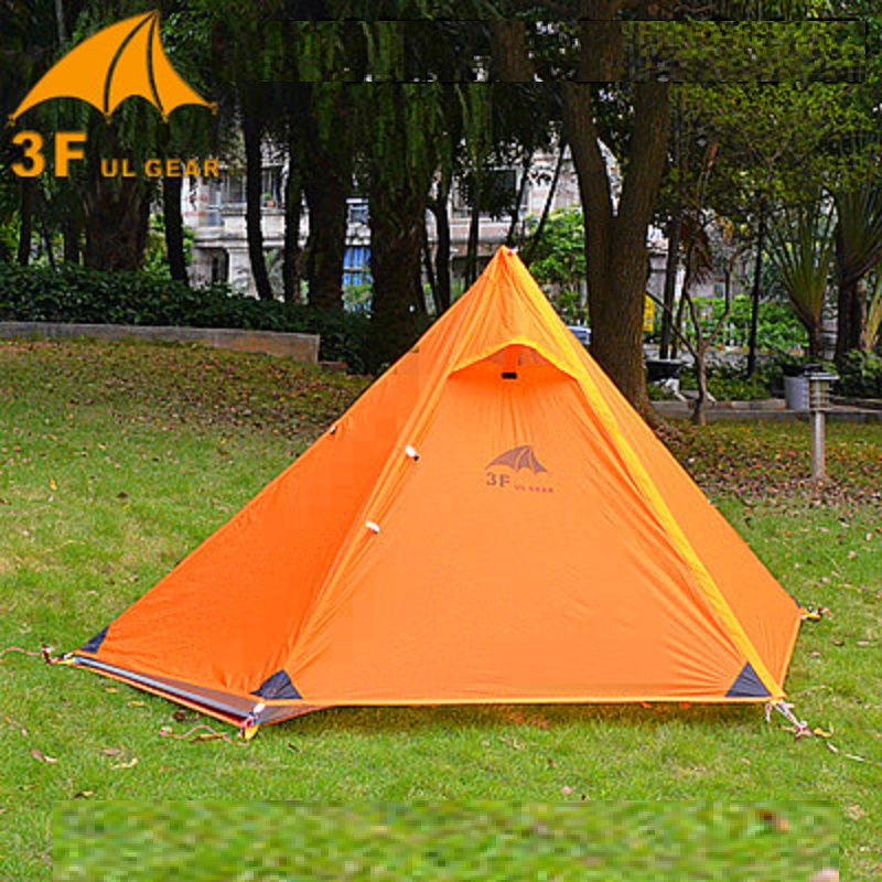 3F Ul Gear Pyramid large Tent 1 Person Outdoor Ultralight C&ing Tent 15D Silicon Fabric 210T Hiking Travel Cycling No Poles-in Tents from Sports ... & 3F Ul Gear Pyramid large Tent 1 Person Outdoor Ultralight Camping ...