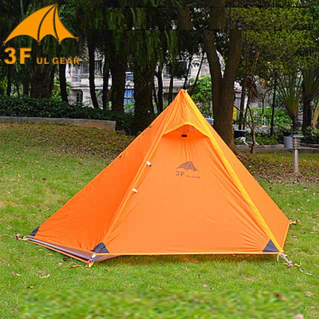 3F Ul Gear Pyramid large Tent 1 Person Outdoor Ultralight C&ing Tent 15D Silicon Fabric 210T & 3F Ul Gear Pyramid large Tent 1 Person Outdoor Ultralight Camping ...