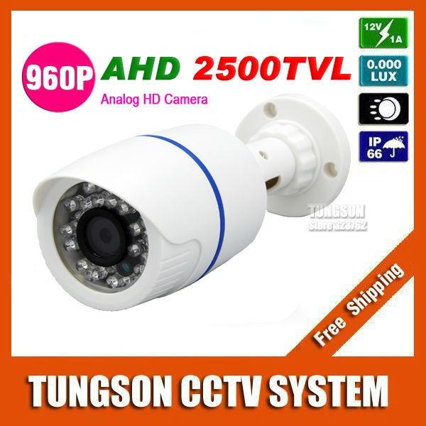 NEW HD 960P CCTV Camera AHD Technology 2500TVL Outdoor White/Black Bullet IR-CUT Security 1.40MP Surveillance Cam zea afs011 600tvl hd cctv surveillance camera w 36 ir led white pal