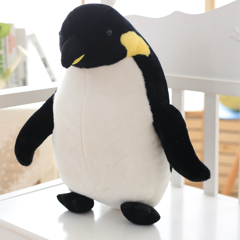 80cm Plush Penguin Toy Simulation Animal Stuffed Soft Toy Cute Simulation Penguin Doll Kids Toy Children Birthday Christmas Gift stuffed animal jungle lion 80cm plush toy soft doll toy w56