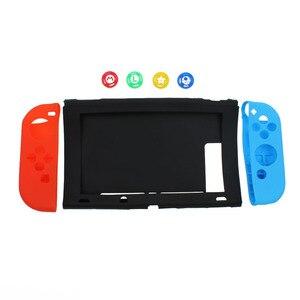 Image 5 - TingDong dla konsoli Nintendo przełącznik przypadku NS miękkie silikonowe pokrywa ochronna skóry dla Nintendo przełącznik konsoli i Joy con