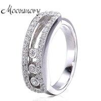 Moonmory Frankreich Beliebten 925 Sterling Silber Ring Mit Bewegt Werden Zirkonia Fit Frauen Hochzeit Engagement Europäischen Modeschmuck