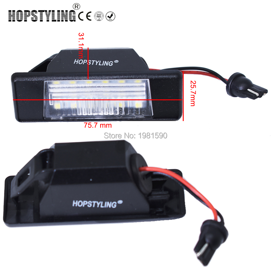 Hopstyling car led rear number plate light for Nissan X-trail Primera P12 Juke Qashqai Pathfinder R51 auto accessory hopstyling 2pcs direct fit white 18 smd car led license plate light lamp for nissan teana j31 j32 maxima cefiro number light