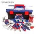 Conjunto de herramientas para el unid hogar de 170 PC, juego de herramientas de plástico para el hogar, caja de herramientas
