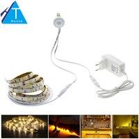 Taśma LED Czujnik Ruchu Pir 5050 Wodoodporne 30 LEDs/m Ciepły Biały + Inteligentny Czujnik Kontroli Światła Sypialni Oświetlenie