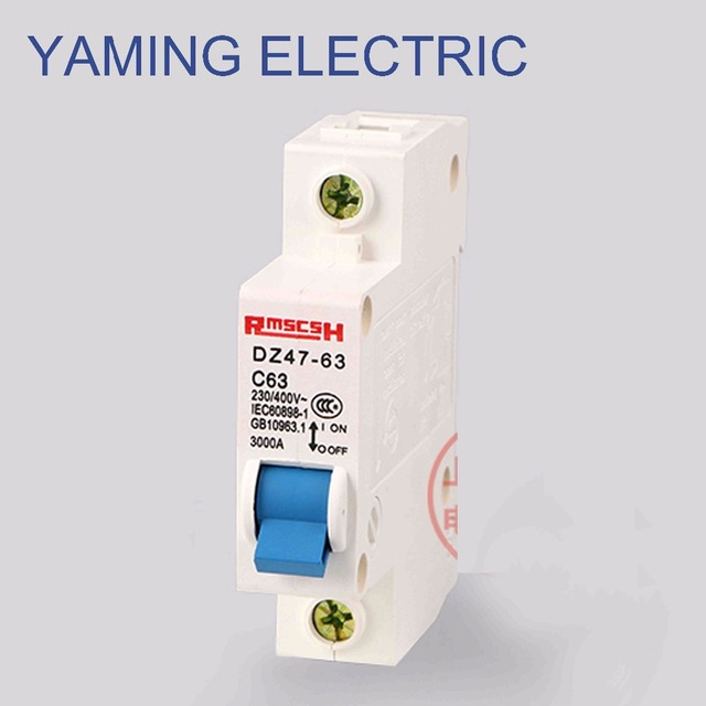 P67 Miniature Circuit Breaker DZ47 63 400V 1P 6 63A Rated Current ...