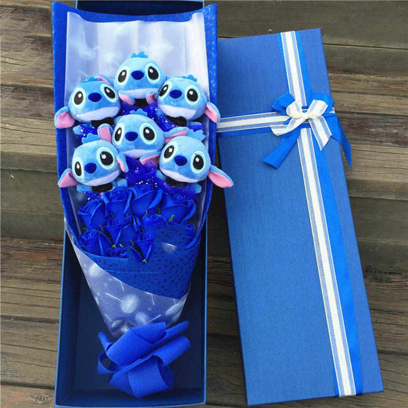 Kawaii Brinquedos de Pelúcia Macia Ponto Bouquet Brinquedos de Pelúcia Bichos de pelúcia Presentes Artificial Encantador Dos Desenhos Animados do Falso Flores Decoração Do Casamento