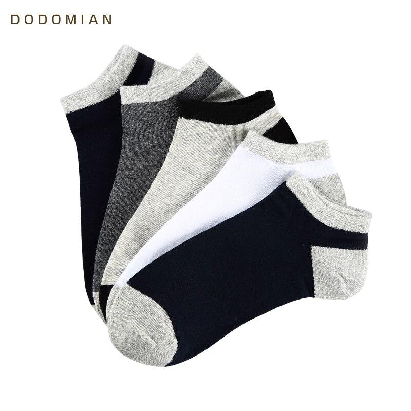 DO DO MIAN Striped Socks Men 10pairs/lot Summer Short Socks Breathable Slippers Cotton Casual Men Ankle Sock Chaussette Homme