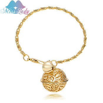 Summer Style 2 Colors New Arrival Gold color Vintage Bell Design Bracelets Bangles Fashion Jewelry Charm For Women MLY1138