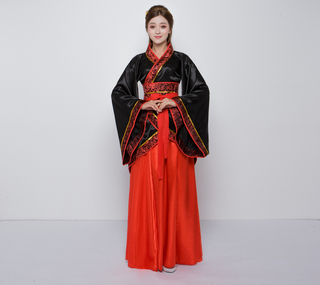 2018 winter Hanfu national costume Ancient Chinese Cosplay Costume Ancient Chinese Hanfu Women Clothes Lady Chinese Stage Dress