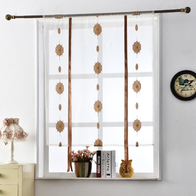 buy textile cafe curtains roman red window european voile pocket treatments. Black Bedroom Furniture Sets. Home Design Ideas