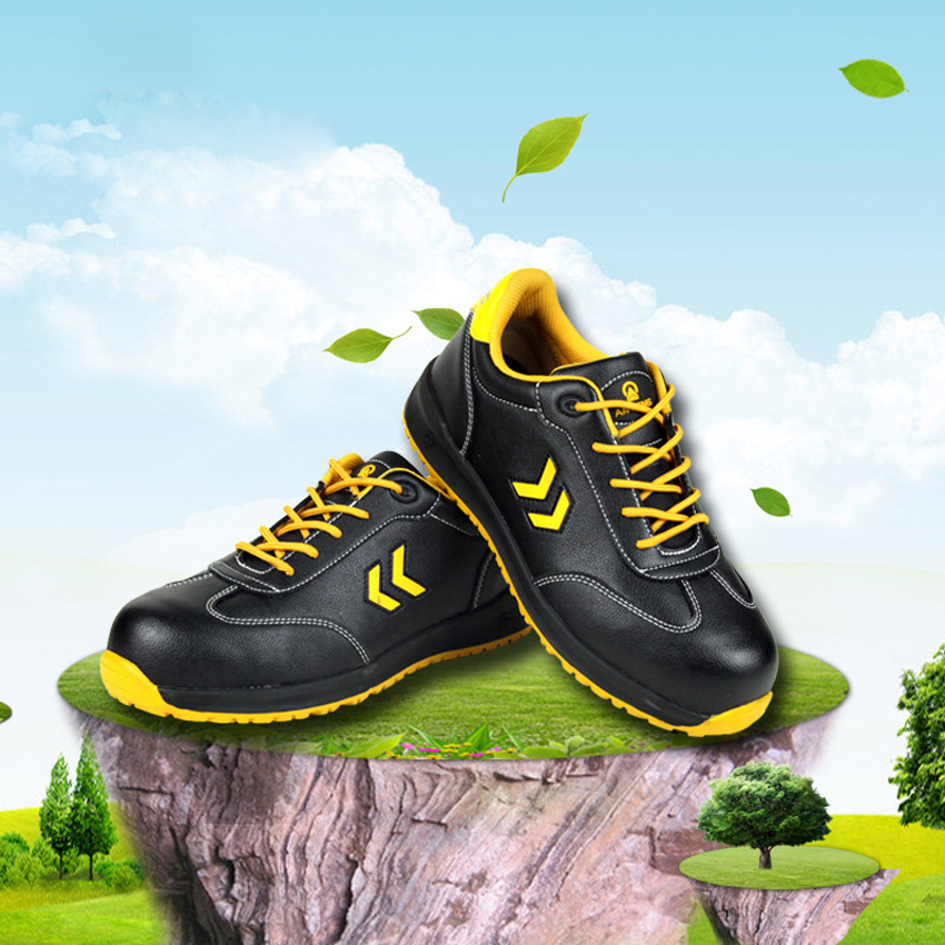 Men Super Slip-Resistant Safety Shoes Anti-Smashing Anti-Puncture Work Boots Breathable Protective Shoes (Level SRC) leather men steel toe cap work safety shoes anti smashing slip resistant breathable winter boots