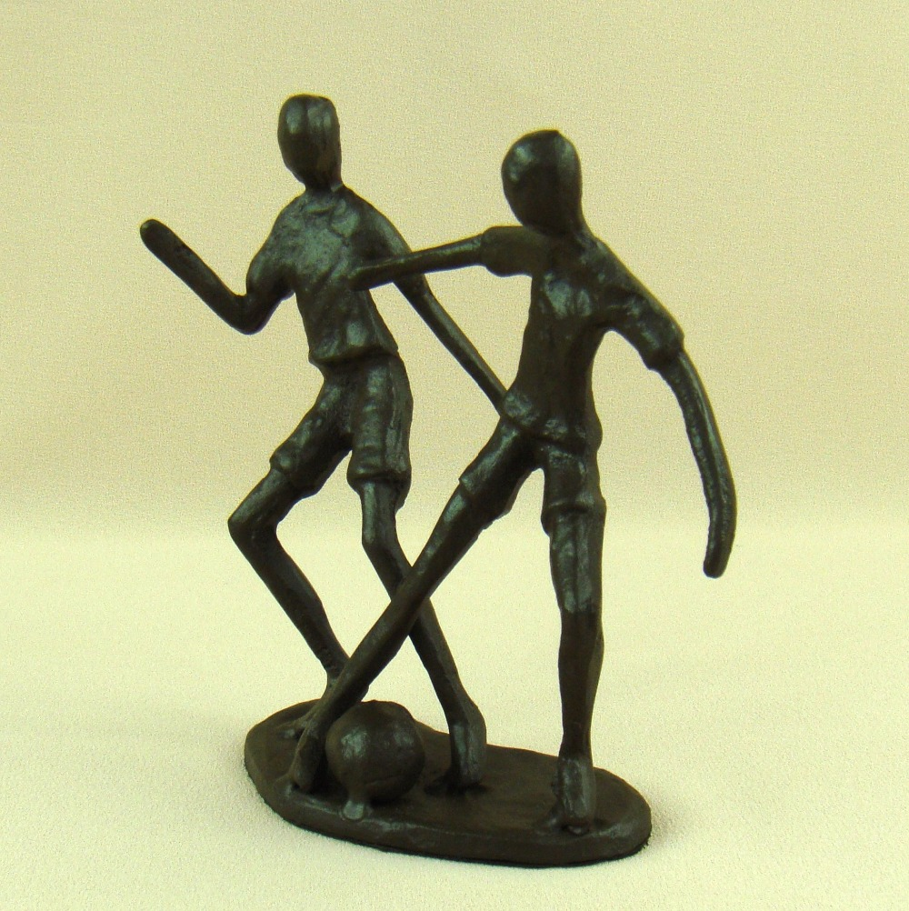 Abstract Cast Iron Football Player Miniature Model Handmade Metal ...