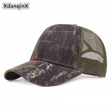 XdanqinX Unisex Summer Net Cap Jungle Camouflage Mesh Baseball Caps For Men Women Adjustable Size Hip Hop Snapback Couple Hats