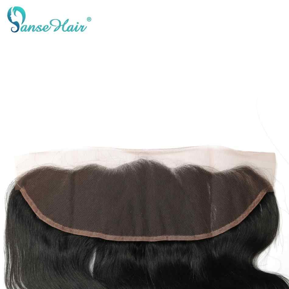 Panse Hair Brazilian Human Hair Extensions Straight 3 Bundles With A 13*4 Lace Frontal Non Remy Hair 8-28 inches Mixed Length
